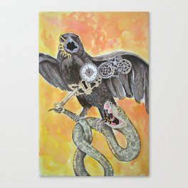 The Raven and the Serpent Canvas Print