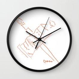 Metaphysical Penguin Artist Brush & Paint Tube Wall Clock