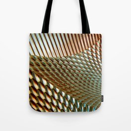 Shiny Gold Dimple Abstract Tote Bag