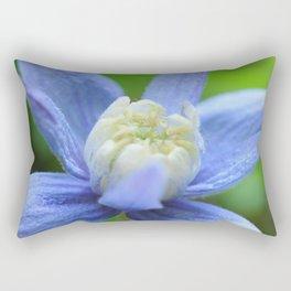 SOFT BLUE #1 - Clematis Alpina Rectangular Pillow