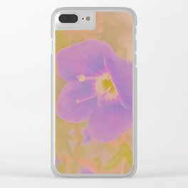 Georgia Blue, The Earth Laughs In Flowers Clear iPhone Case