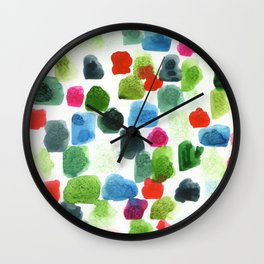 abstract marks: red, green, blue Wall Clock