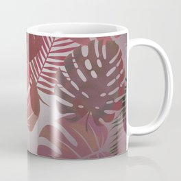 Tropical Autumn Leaves Coffee Mug