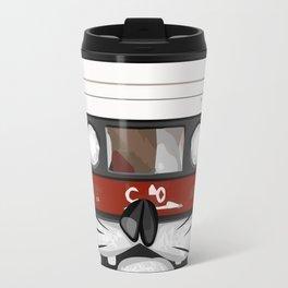 The cassette tape cat Travel Mug