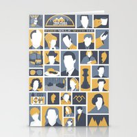 twin peaks Stationery Cards featuring Twin Peaks by Bill Pyle