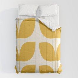 Mid Century Modern Leaves Yellow #society6 #buyart  Comforters