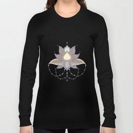 Ethnic flower lotus mandala ornament Long Sleeve T-shirt