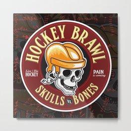 Hockey Brawl Metal Print
