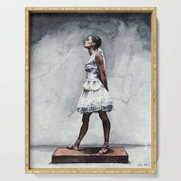Misty Copeland Ballerina as the Little Dancer Serving Tray