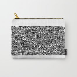 Typographic Kansas Carry-All Pouch