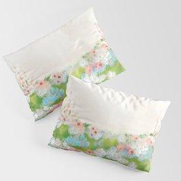 CottageCore Wildflower Landscape Pillow Sham