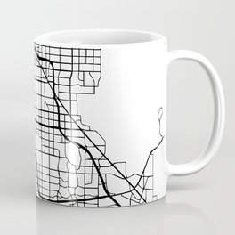 LAS VEGAS NEVADA BLACK CITY STREET MAP ART Coffee Mug