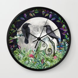 Raven Moon Magick Wall Clock