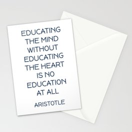 EDUCATING THE MIND - Aristotle Greek Philosophy Quote Stationery Cards