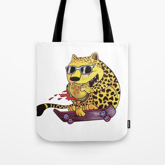 Skating Cheetah Tote Bag