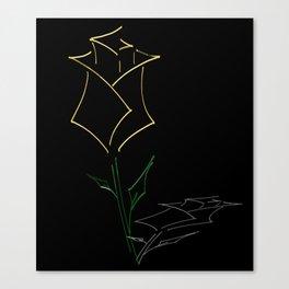 Yellow Rose (Rose Alix) Canvas Print