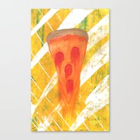 pizza Canvas Prints featuring Pizza by Angelz