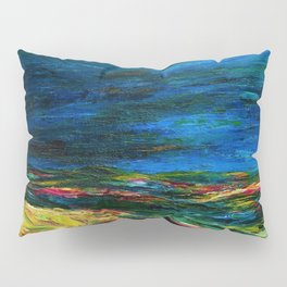 1912 Classical Masterpiece Stormy Sea Herbstmeer XIX by Emil Nolde Pillow Sham