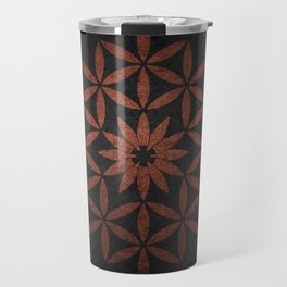 The Flower of Life - Ancient copper Travel Mug