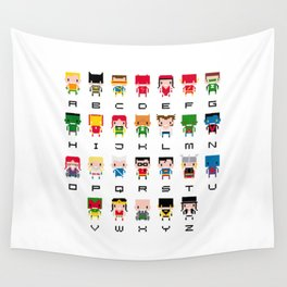 Superhero Alphabet Wall Tapestry