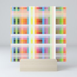 colorful grid Mini Art Print