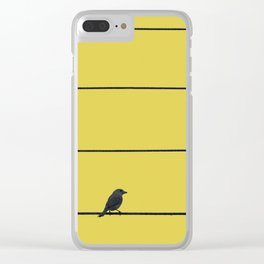 Bird and wires Clear iPhone Case
