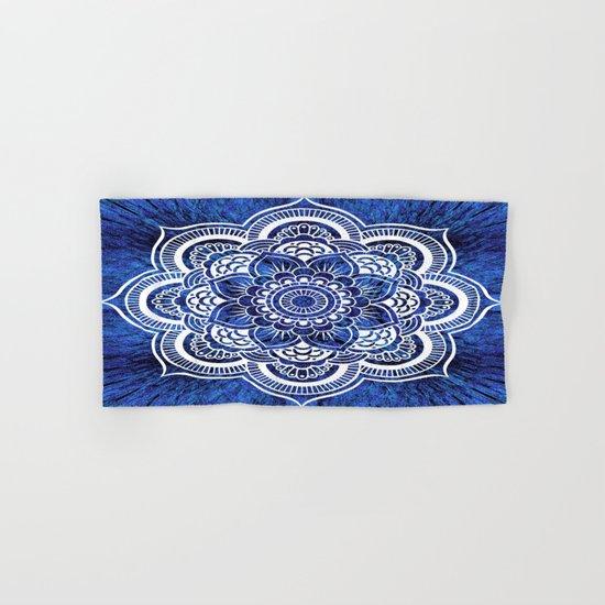 Mandala Blue Colorburst Hand & Bath Towel