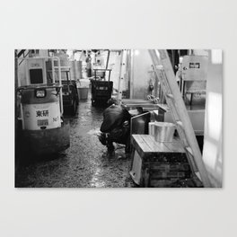 Pressure Washing, Tsukiji Fish Market, Tokyo, Japan Canvas Print