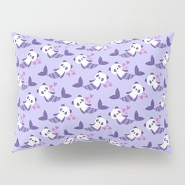 Cute purple merpandas Pillow Sham