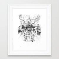 motorbike Framed Art Prints featuring Motorbike. by sonigque