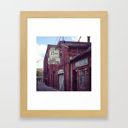 Blues Alley (Washington, DC) Framed Art Print