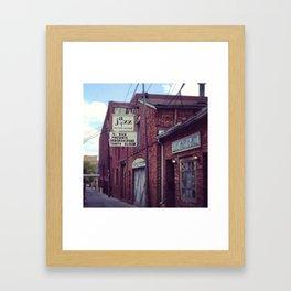 Blues Alley (Washington, DC) Framed Art Print