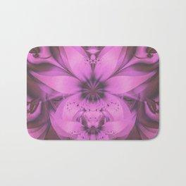 Pretty in Pink Fractal Flower Star-Shaped Petunias Bath Mat