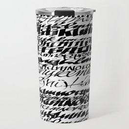 Alphabet soup Travel Mug