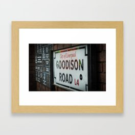 Goodison Road Framed Art Print