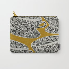 Morning Cuppa! - tea coffee lover zentangle Carry-All Pouch
