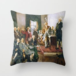 Signing Of The Constitution Throw Pillow