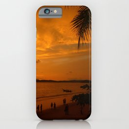 Sunset in Krabi Ao Nang Thailand iPhone Case
