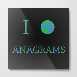 I heart Anagrams Metal Print