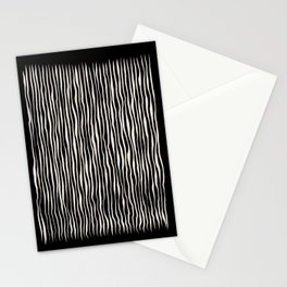 Between the lines doodle 2. Black #abstract Stationery Cards