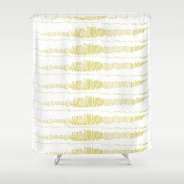 Golden Scribbles 1 Shower Curtain