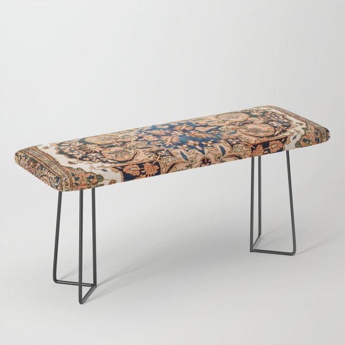 Ferahan Arak  Antique West Persian Rug Print Bench