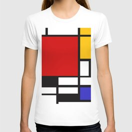 Piet Mondrian - Composition with Red, Yellow, and Blue 1942 Artwork T-shirt