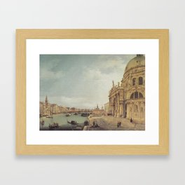 Entrance to the Grand Canal - Canaletto (Distressed Plaster Look) Framed Art Print