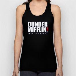 Dunder Mifflin The Office Logo,white Unisex Tank Top