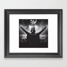 Darth Vader rocks the party Framed Art Print