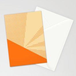Geometric orange grid collage Stationery Cards