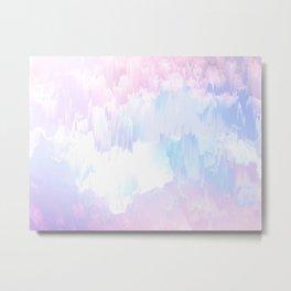 Sky Fall Dream Pastel Glitch - pink and blue Metal Print