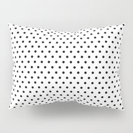 Polka dot white and black Pillow Sham