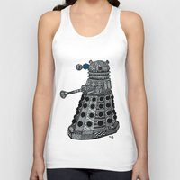 dalek Tank Tops featuring Dalek by Rebecca Bear